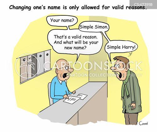 name changing cartoon