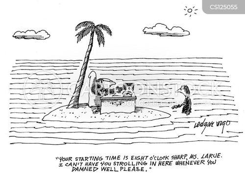 remote islands cartoon