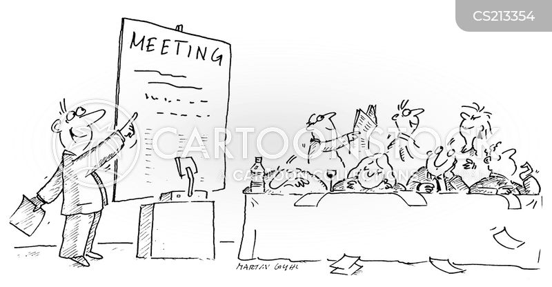 company meeting cartoon