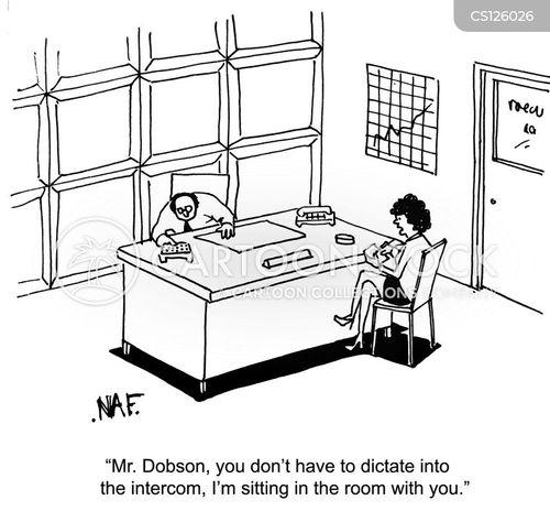 dictations cartoon