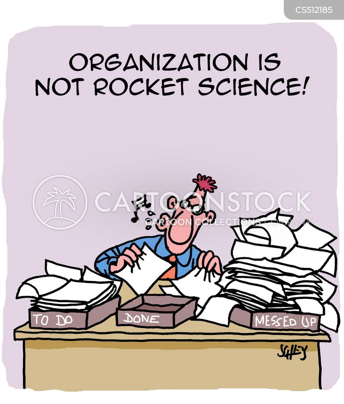 disorganization cartoon