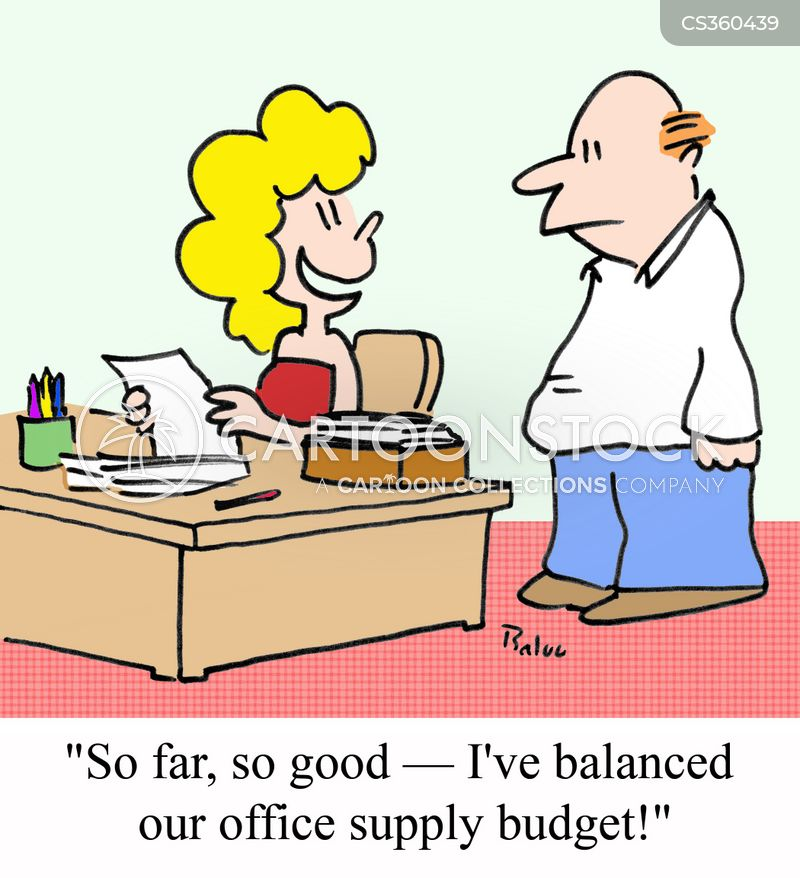 budget management cartoon