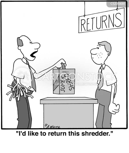 returning products cartoon