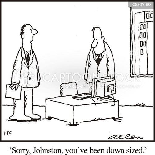 down sizing cartoon