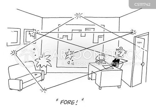 office golf cartoon