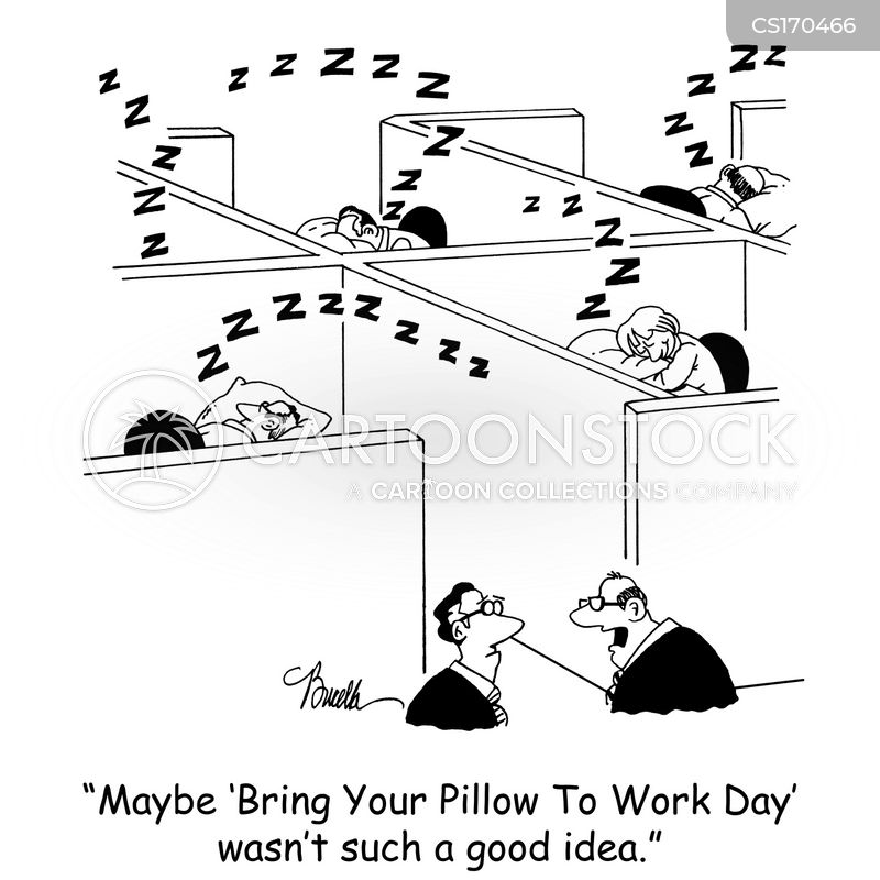 lazy employee cartoon