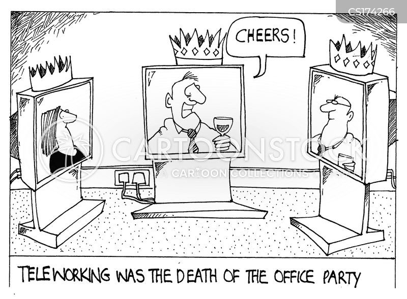 office parties cartoon