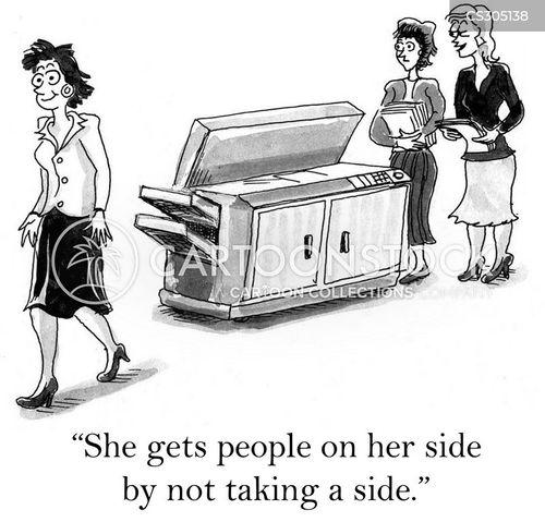taking sides cartoon