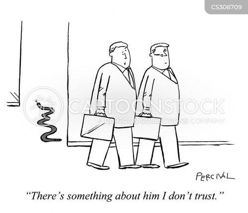back-stabbing cartoon