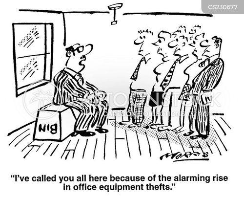 office theft cartoon