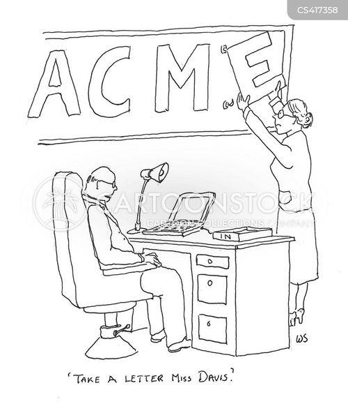 take a letter cartoon