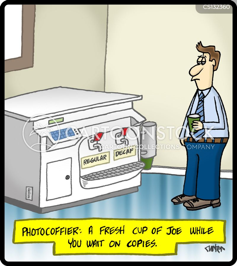 office equipments cartoon