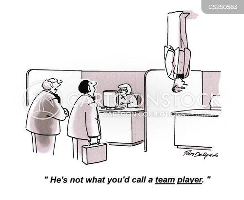 team mates cartoon