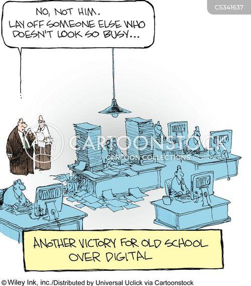 data clerk cartoon