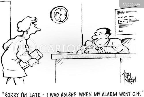 slept in cartoon