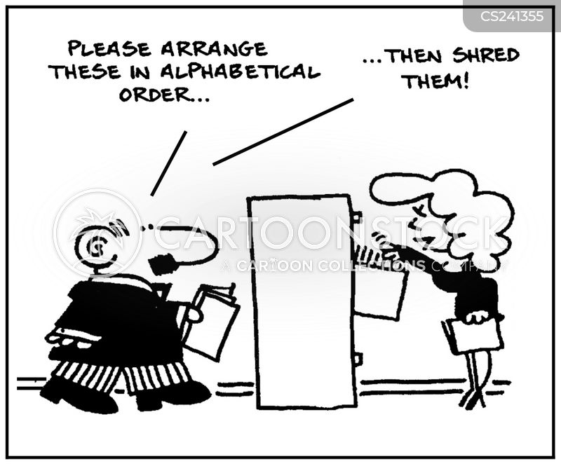 alphabetical orders cartoon