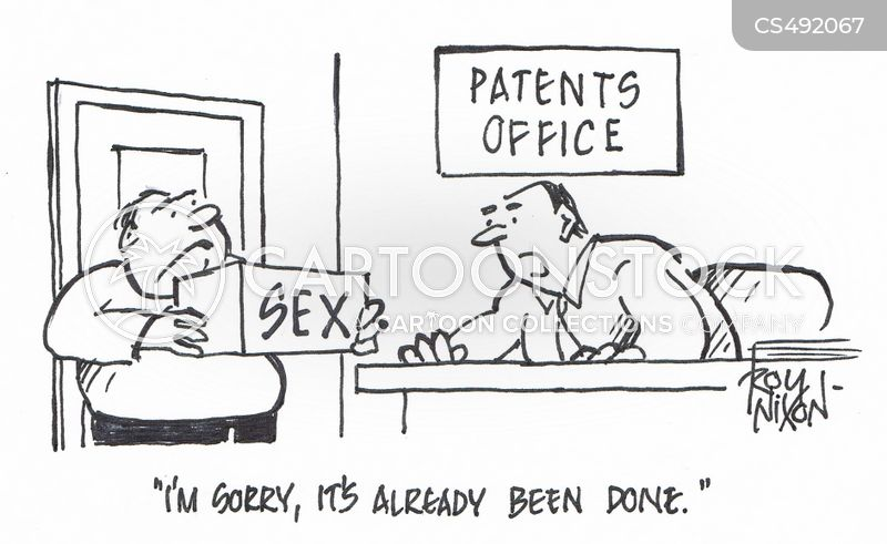 patents offices cartoon