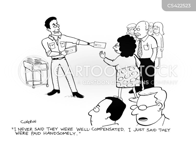 Pay Scales Cartoons and Comics - funny pictures from CartoonStock