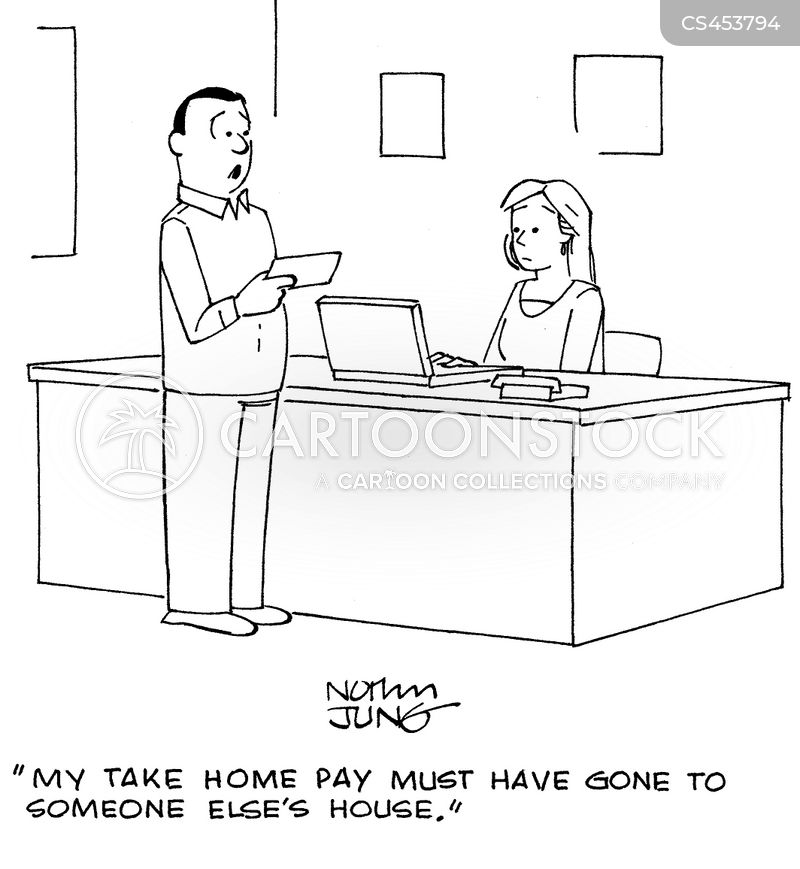 take home pay cartoon