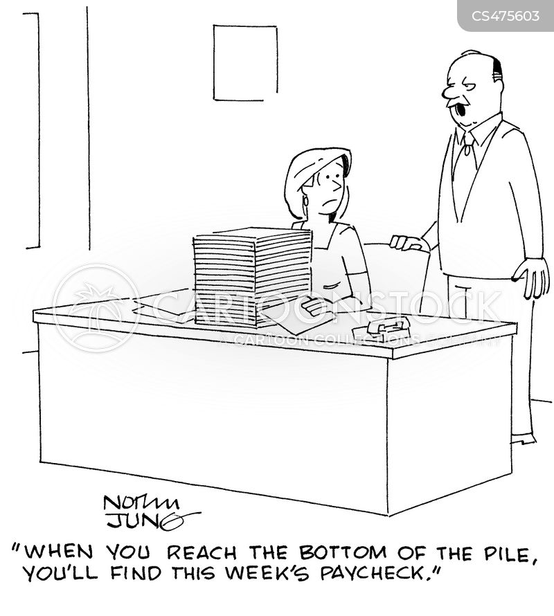 Pay Slip Cartoons and Comics - funny pictures from CartoonStock