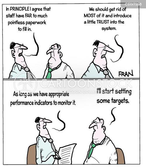 performance indicator cartoon