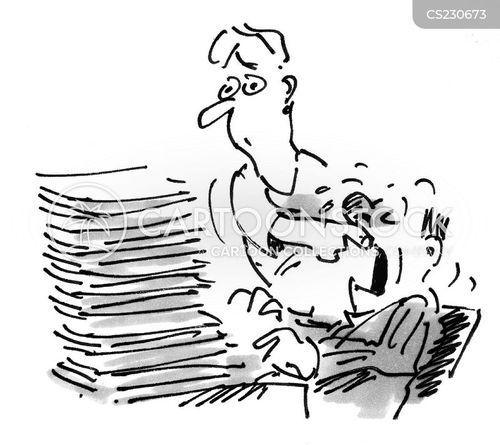 too much work cartoon