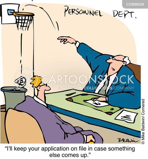 Cartoons Und Karikaturen Mit Stellenbewerbung