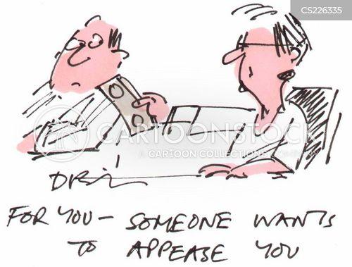 appease cartoon