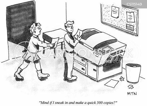 photocopied cartoon