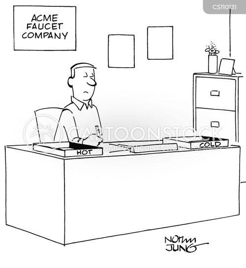 plumbing businesses cartoon