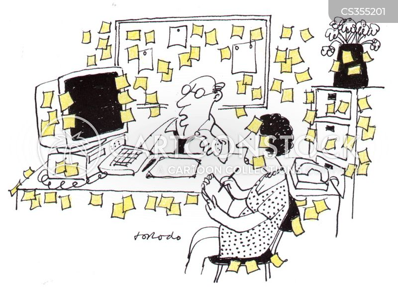post-it note cartoon