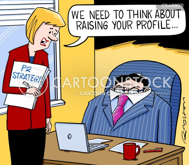 pr strategies cartoon