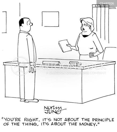 unprincipled cartoon
