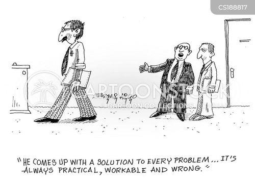 solving cartoon