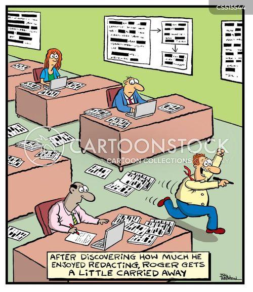 classified documents cartoon