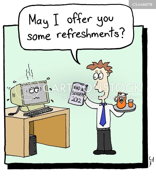 refreshes cartoon