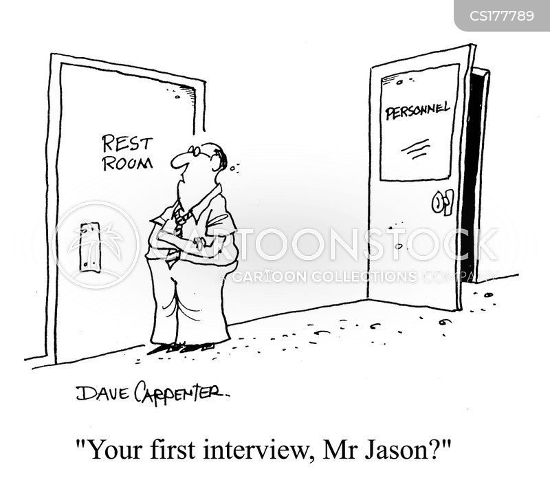 First Interview Cartoons and Comics - funny pictures from CartoonStock
