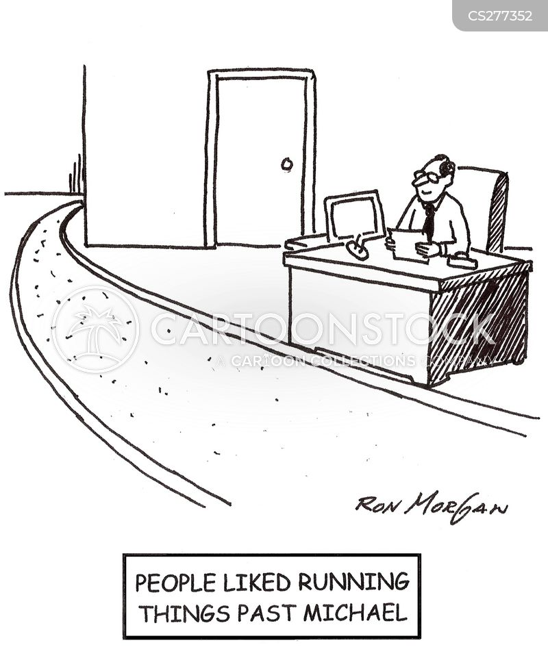 running track cartoon