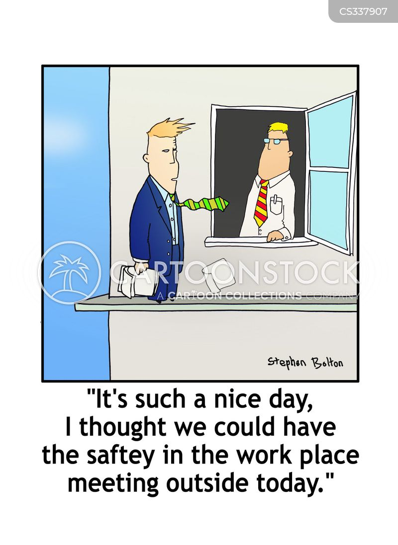 safety in the workplace cartoon