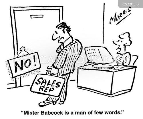 sales rep cartoon