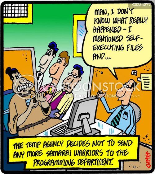 agency worker cartoon