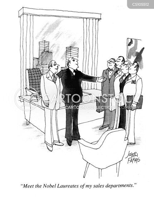 nobel laureates cartoon