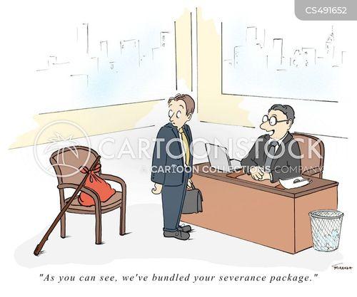 severance pays cartoon