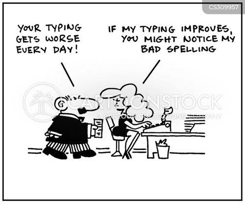 spelling problems cartoon