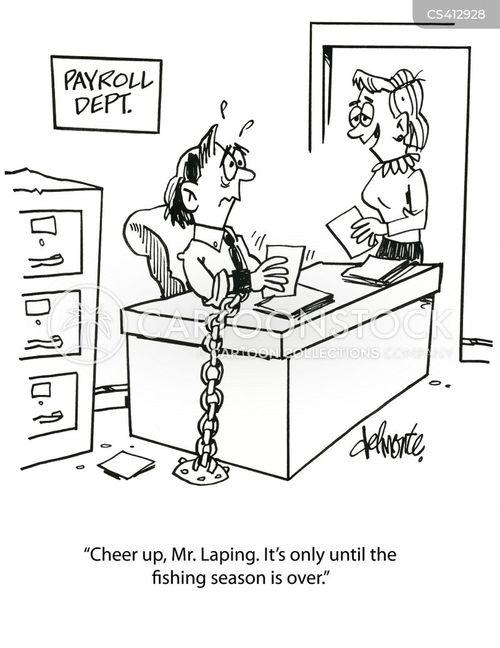 skipping work cartoon