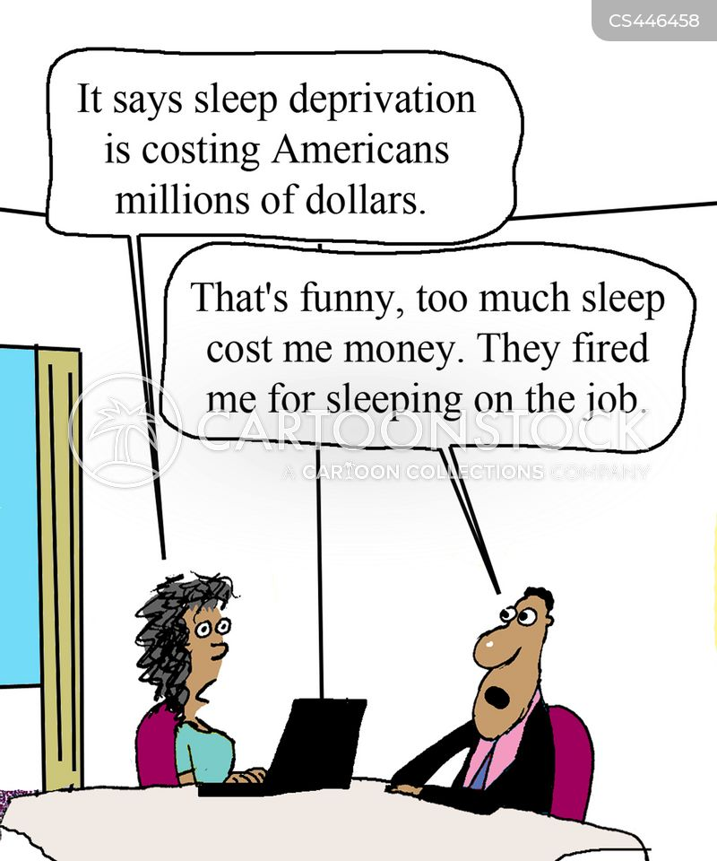 sleep deprived cartoon