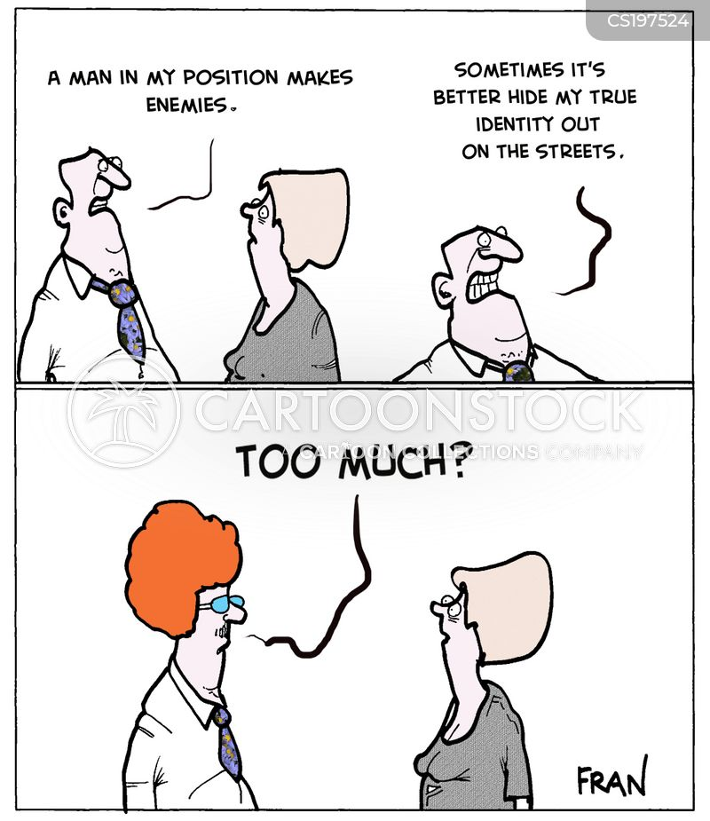 powerful men cartoon