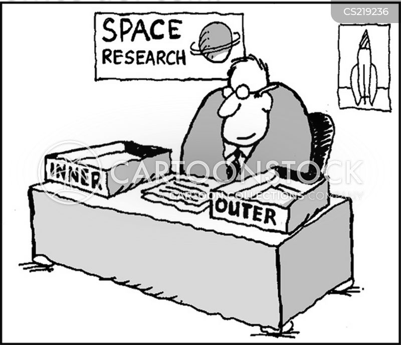 space research cartoon