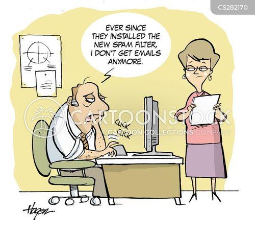 electornic mails cartoon