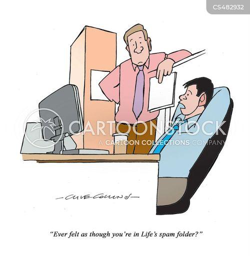spam folders cartoon